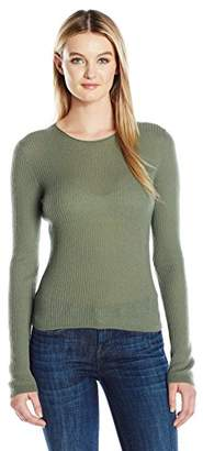 Vince Women's Rib Cropped Pullover