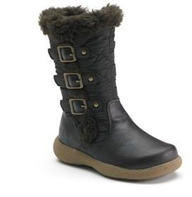 Rachel Shoes Toddler Girls' Faux-Fur Lined Quilted Boots $42.99 thestylecure.com