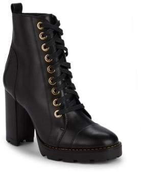 Ava & Aiden Eye Stack Heel Combat Boots
