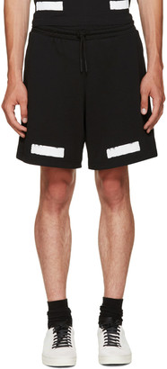 Off-White Black Brushed Diagonals Shorts $235 thestylecure.com
