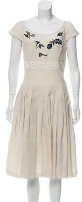 Prada Beaded Linen Dress