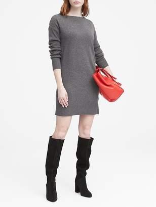 Banana Republic Petite Wool-Cashmere Blend Boat-Neck Sweater Dress