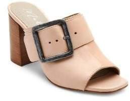 Matisse Beatrice Leather Peep-Toe Mules
