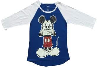 Disney Junior/Teen's Top Mickey Oops, White
