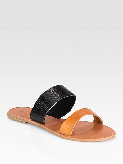 Joie Sable Two-Tone Leather Sandals