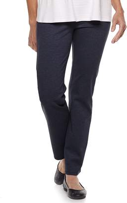 Dana Buchman Women's Slimming Straight-Leg Pull-On Ponte Pants