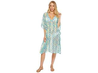 Echo Cabana Lattice Double-V Cover-Up Women's Swimwear
