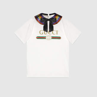 926042535 Gucci Oversize collared T-shirt with logo