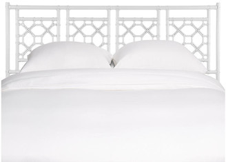 David Francis Furniture Lattice Headboard - White