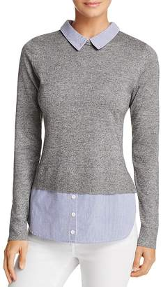 AQUA Layered-Look Collared Sweater - 100% Exclusive $58 thestylecure.com