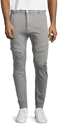 Nxp Men's Casual Flight Pants with Leather Patch