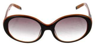 Karl Lagerfeld Gradient Oval Sunglasses