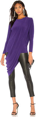 Norma Kamali Long Sleeve Draped Top
