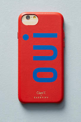 Clare Vivier x Casetify Oui Leather iPhone Case