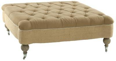 Tufted Ottoman by Aidan Gray