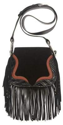 Vince Camuto Tal Fringed Leather Crossbody Bag