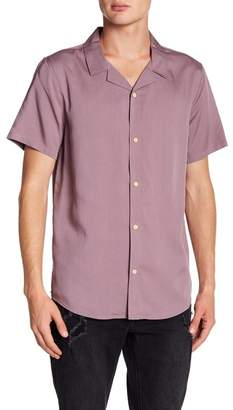 Threads 4 Thought Short Sleeve Solid Rayon Shirt