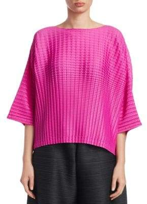 Pleats Please Issey Miyake Arare Square Pleat Top