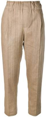 Brunello Cucinelli high waisted tailored trousers