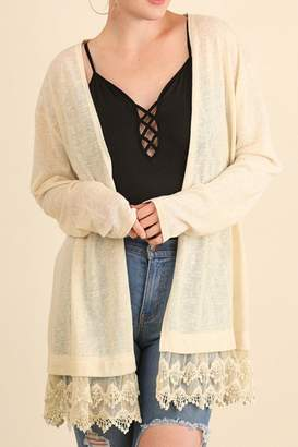Umgee USA Natural Colored Cardigan