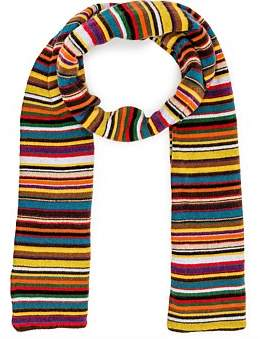Paul Smith Multistripe Knitted Scarf