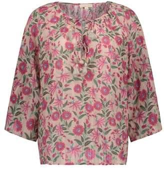 Sale - Matangi Floral Lurex Blouse - Women's Collection - Louise Misha