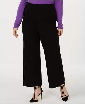 Charter Club Plus Size Cashmere Knit Culotte Pants, Created for Macy's