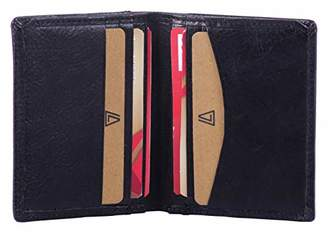 Leather Architect -Men's Real Italian Leather Bifold Card Holder and RFID blocking-