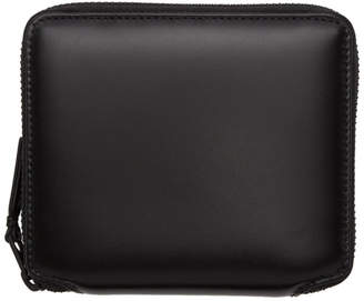 Comme des Garcons Wallets Wallets Black Leather Zip-Around Wallet