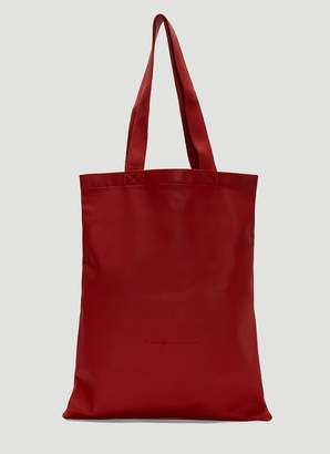 Rick Owens Small Signature Tote Bag in Red