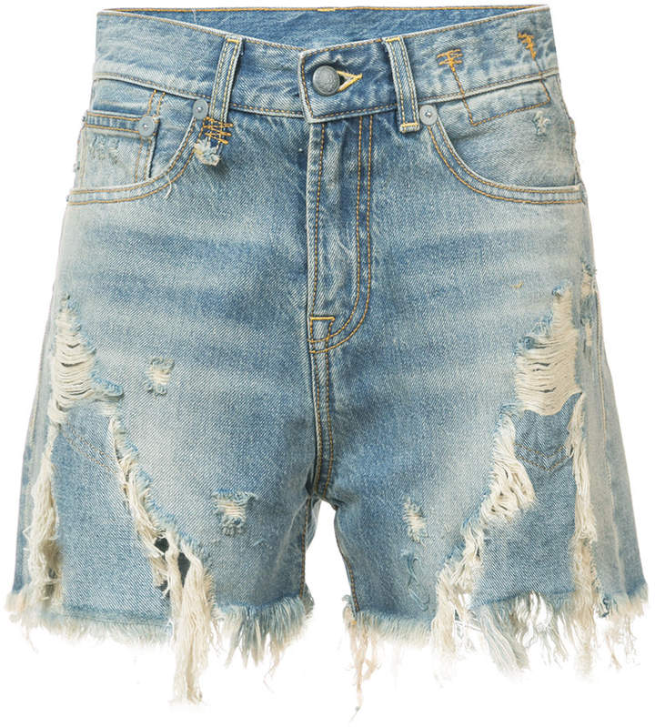 Jeansshorts mit Distressed-Optik