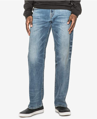 Silver Jeans Co. Men's Gordie Loose-Fit Straight Stretch Jeans