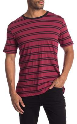 Public Opinion Stripe Crew Neck Tee