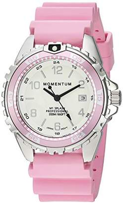 Momentum Women's Quartz Watch | M1 Splash by Momentum| Stainless Steel Watches for Women | Dive Watch with Japanese Movement & Analog Display | Water Resistant ladies watch with Date –Lume / Rubber