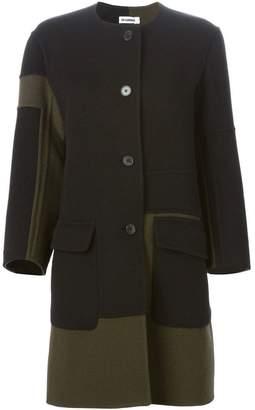 Jil Sander contrasting panels coat