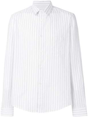 Golden Goose pinstripe curved hem shirt