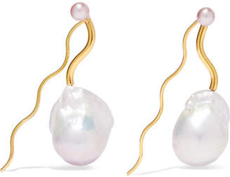 Pernille Lauridsen - Amphitrie Gold-plated Pearl Earrings