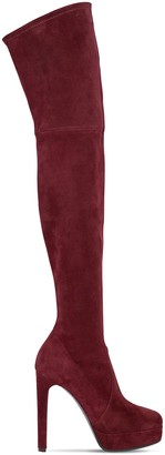 Casadei 120mm Stretch Suede Over The Knee Boots