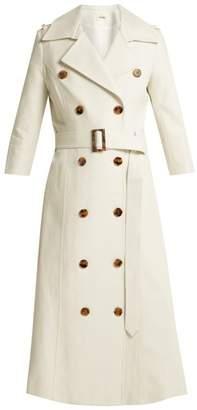 Khaite - Charlotte Cotton Trench Coat - Womens - Cream