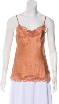 Gold Hawk Sleeveless Lace-Accented Top