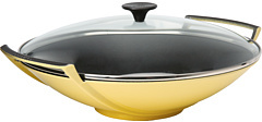 "Le Creuset 14.25"" Wok With Glass Lid"