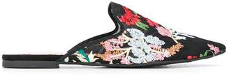 Pretty Ballerinas embroidered flat mules