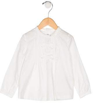 Mayoral Girls' Bow-Accented Top