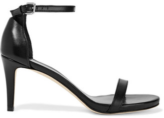 Stuart Weitzman - Nunaked Leather Sandals - Black $400 thestylecure.com