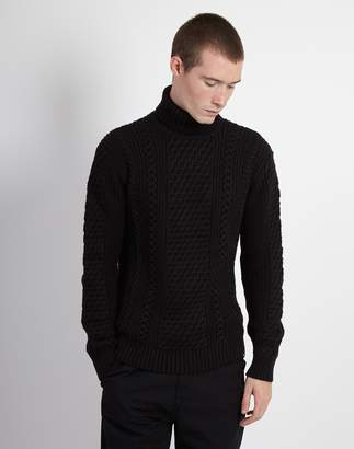 Edwin United Rollneck Sweater Black