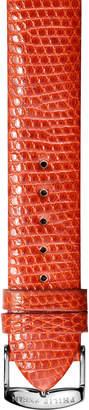 Philip Stein Teslar 20mm Lizard Watch Band, Orange