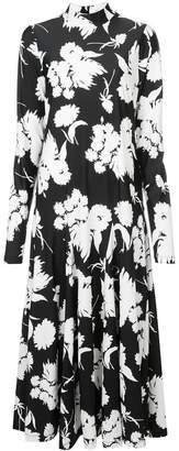 Ganni turtleneck floral print dress