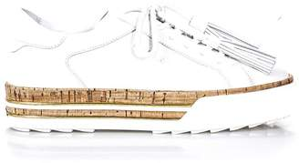 Hogan White Cork And Leather Double Layer Shoes