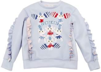 Fendi Cheer Printed Doubled Jersey Sweatshirt