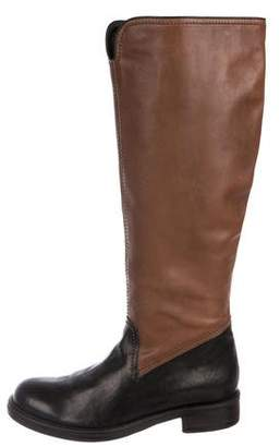Henry Beguelin Bicolor Leather Boots